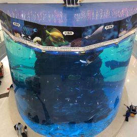 from 20mm to 500mm thick acrylic panels for modern large fish