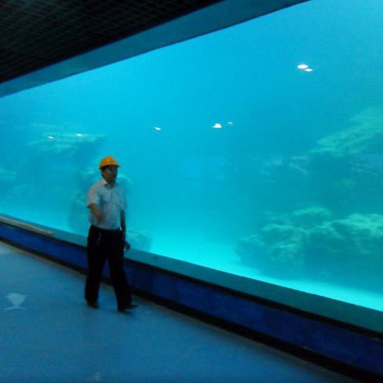 Cast wall UV acrylic panel for aquarium / oceanarium