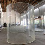 curved lucite acrylic plexi glass plate for ocean aquarium