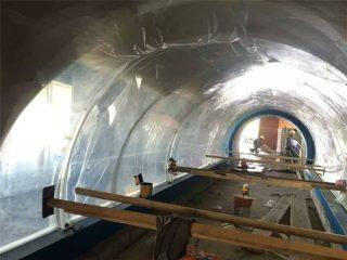 Customized large aquarium plastics tunnel acrylic project
